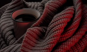 cup of coffee and blanket